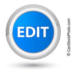Edit prime cyan blue round button