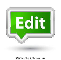 Edit prime green banner button