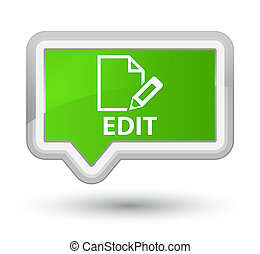 Edit prime soft green banner button