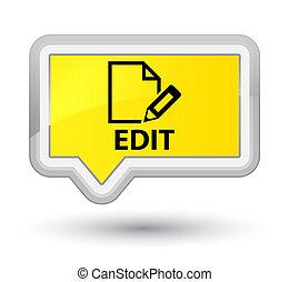 Edit prime yellow banner button