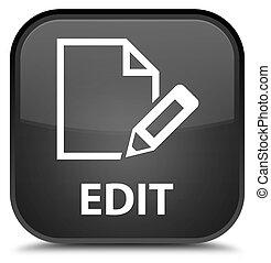 Edit special black square button