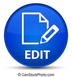 Edit special blue round button