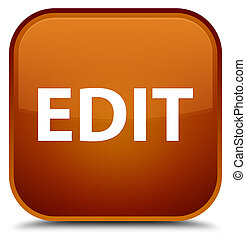 Edit special brown square button