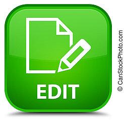 Edit special green square button