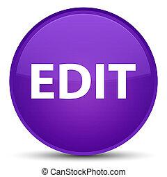 Edit special purple round button