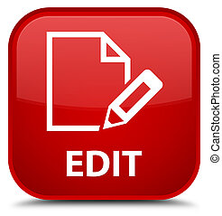 Edit special red square button