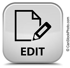 Edit special white square button