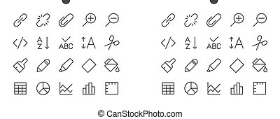 Edit text Pixel Perfect Well-crafted Vector Thin Line Icons 48x48 Ready for 24x24 Grid for Web Graphics and Apps with Editable Stroke. Simple Minimal Pictogram