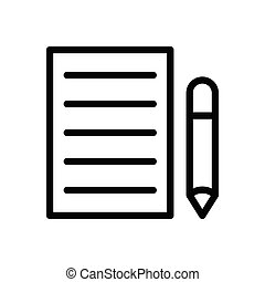edit  thin line icon