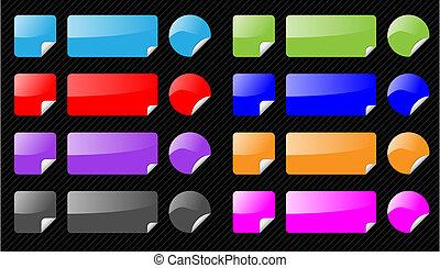 edit., toile, différent, ensemble, navigation, eau, icônes, vecteur, buttons., arrière-plan., éléments, noir, facile, couleurs, rayé, 2.0, brillant, style.