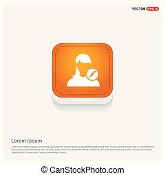 Edit user Icon Orange Abstract Web Button