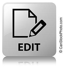 Edit white square button