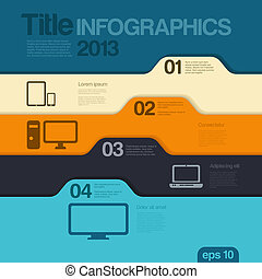 editable., デザイン, template., vector., infographics