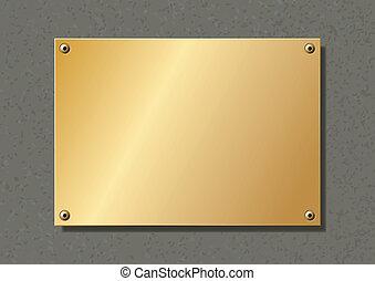 editable, 黃銅, 公司, 盤子, 固定, 由于, allen, 螺絲