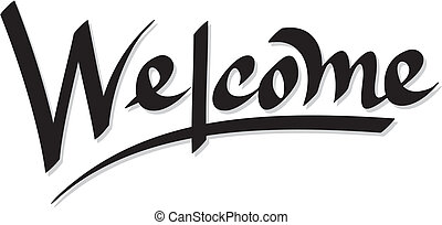 hand lettering welcome