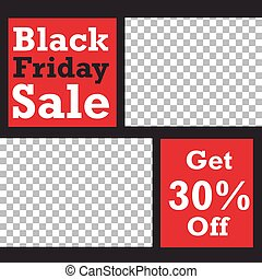 Editable Black Friday sale background template. Vector Design web banner for social media. Post layout template