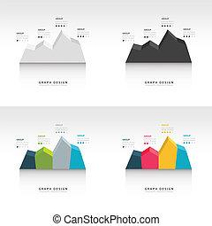 Editable business diagram graph chart set