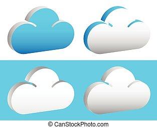 Editable cloud shapes vector graphics. Eps 10.