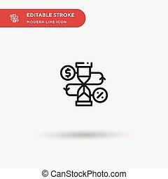 editable, moderne, jouw, stroke., perfect, icon., illustratie, symbool, vector, web, ui, pictogram, iconen, element., beweeglijk, eenvoudig, ontwerpen kleur, plan, mal, bekeren, zakelijk