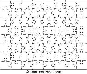 editable, opgave, jigsaw, blanding, skabelon