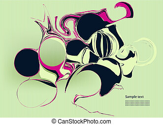 Retro style vector abstract background