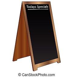 Editable Sandwich Board Sign