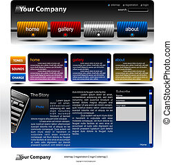 editable, site web, modelo