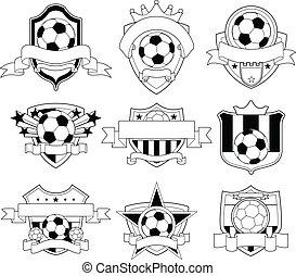 editable soccer emblem logo