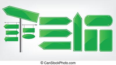 Editable street signs