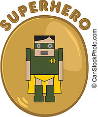 super cartoon hero character