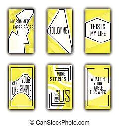 Editable template for social networks. Instagram Stories. ...