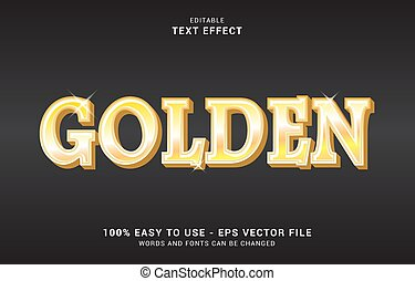 editable text effect, Golden style can be use to make Title