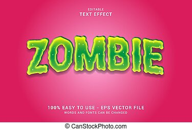 editable text effect, zombie style