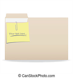 Editable Text Folder - Image of a folder with a note with...