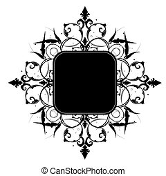 Editable vector decorative  frame with space for your text or image.