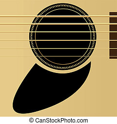 Acoustic guitar - Editable vector illustration - Acoustic ...