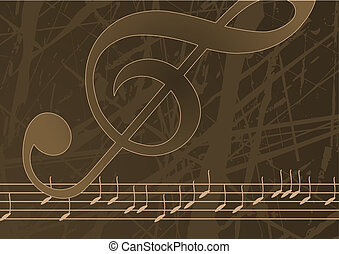Editable vector music background