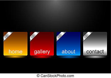 Editable website buttons