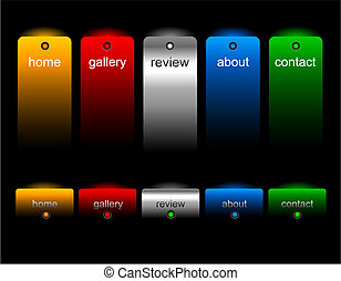 editable, website, knopen