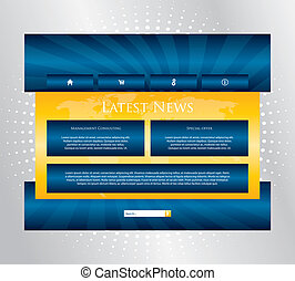 editable, website, schablone, mit, besondere, design