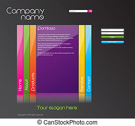 Editable website template, vector