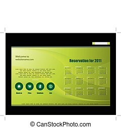 editable website template with cale