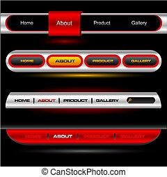 Editable website vector buttons