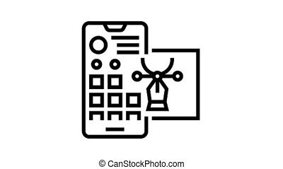 editing photo for social page animated black icon. editing photo for social page sign. isolated on white background