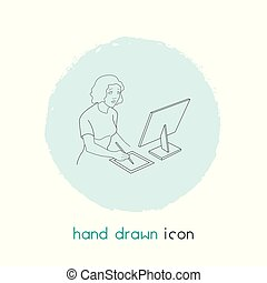 Editor icon line element. Vector illustration of editor icon line isolated on clean background for your web mobile app logo design.