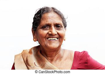 Editorial: A close-up Asian elderly woman