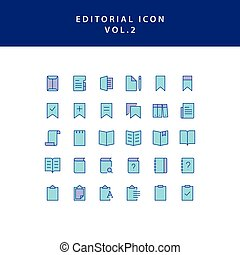 editorial filled outline icon set vol2