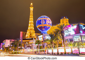 Editorial use only Las Vegas Nevada Strip at night
