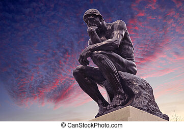 Editorial use The Thinker - The Thinker Statue by the French...