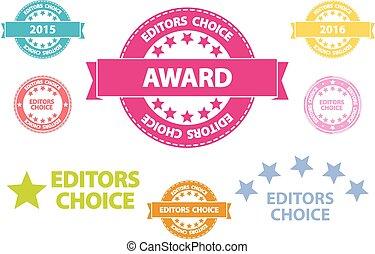 Editors Choice Quality Icons